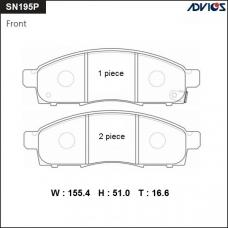 Дисковые тормозные колодки ADVICS SN195P