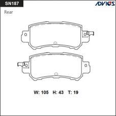 Дисковые тормозные колодки ADVICS SN187