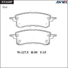 Дисковые тормозные колодки ADVICS SN160P