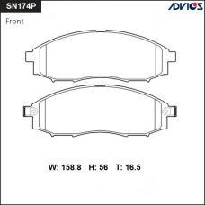 Дисковые тормозные колодки ADVICS SN174P