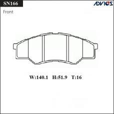 Дисковые тормозные колодки ADVICS SN166