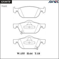 Дисковые тормозные колодки ADVICS SN997P