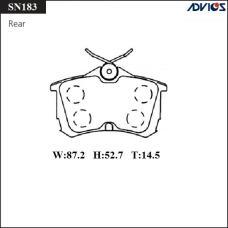 Дисковые тормозные колодки ADVICS SN183