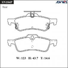 Дисковые тормозные колодки ADVICS SN184P
