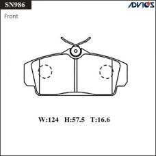 Дисковые тормозные колодки ADVICS SN986