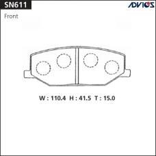 Дисковые тормозные колодки ADVICS SN611