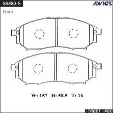 Спортивные тормозные колодки ADVICS/SEI SS583-S