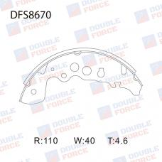 Колодки тормозные барабанные Double Force DFS8670
