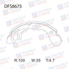 Колодки тормозные барабанные Double Force DFS8675