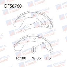 Колодки тормозные барабанные Double Force DFS8760