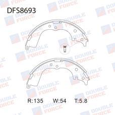 Колодки тормозные барабанные Double Force DFS8693