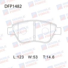 Колодки тормозные дисковые Double Force DFP1482