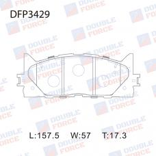 Колодки тормозные дисковые Double Force DFP3429
