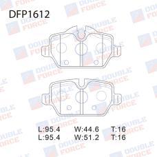 Колодки тормозные дисковые Double Force DFP1612