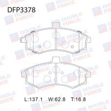 Колодки тормозные дисковые Double Force DFP3378