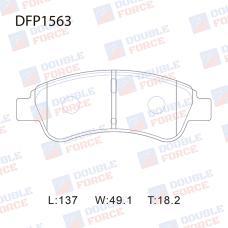 Колодки тормозные дисковые Double Force DFP1563