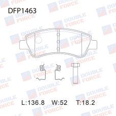 Колодки тормозные дисковые Double Force DFP1463