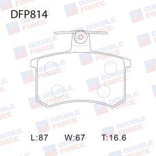 Колодки тормозные дисковые Double Force DFP814
