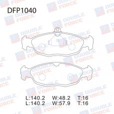 Колодки тормозные дисковые Double Force DFP1040
