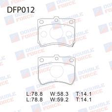 Колодки тормозные дисковые Double Force DFP012