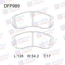 Колодки тормозные дисковые Double Force DFP989