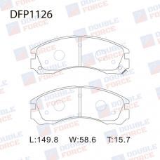 Колодки тормозные дисковые Double Force DFP1126
