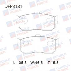 Колодки тормозные дисковые Double Force DFP3181