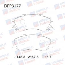 Колодки тормозные дисковые Double Force DFP3177