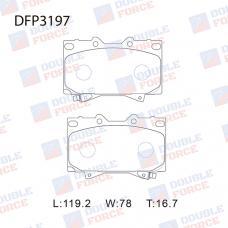 Колодки тормозные дисковые Double Force DFP3197