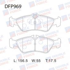 Колодки тормозные дисковые Double Force DFP969