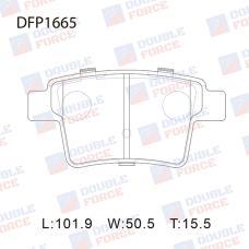 Колодки тормозные дисковые Double Force DFP1665