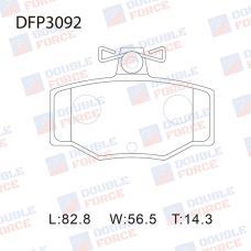 Колодки тормозные дисковые Double Force DFP3092