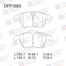 Колодки тормозные дисковые Double Force DFP1683
