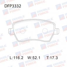 Колодки тормозные дисковые Double Force DFP3332