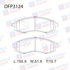 Колодки тормозные дисковые Double Force DFP3124