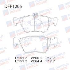 Колодки тормозные дисковые Double Force DFP1205