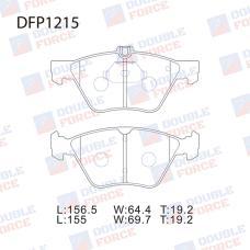 Колодки тормозные дисковые Double Force DFP1215