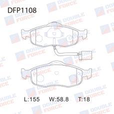 Колодки тормозные дисковые Double Force DFP1108