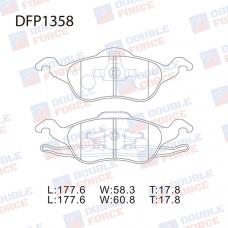 Колодки тормозные дисковые Double Force DFP1358