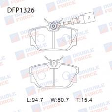 Колодки тормозные дисковые Double Force DFP1326
