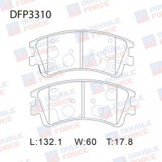 Колодки тормозные дисковые Double Force DFP3310