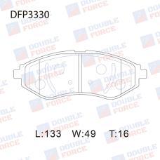 Колодки тормозные дисковые Double Force DFP3330