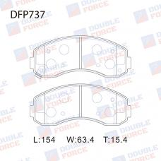 Колодки тормозные дисковые Double Force DFP737