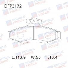 Колодки тормозные дисковые Double Force DFP3172