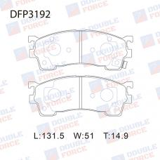 Колодки тормозные дисковые Double Force DFP3192