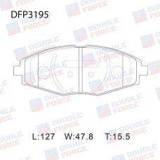 Колодки тормозные дисковые Double Force DFP3195