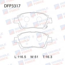 Колодки тормозные дисковые Double Force DFP3317