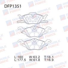 Колодки тормозные дисковые Double Force DFP1351