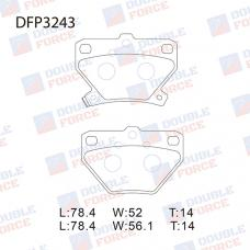 Колодки тормозные дисковые Double Force DFP3243