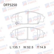 Колодки тормозные дисковые Double Force DFP3250